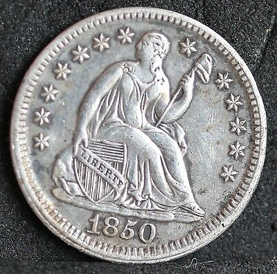 USA. Seated Liberty Silver Half Dime, 5 Cents, 1850. EF