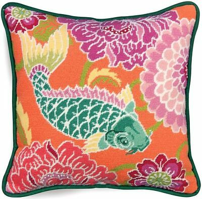 Koi With Flowers Dimensions Needlepoint Kit (20076) Fish, Bright, Oriental
