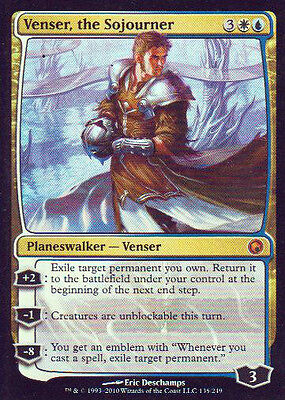 MTG 1x Foil Venser, the Sojourner from Scars of Mirrodin NM -La Place-