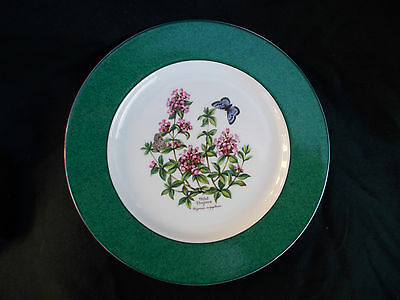 Royal Worcester HERBS Dessert Plate.  Diameter 8 1/4  inches.