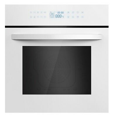 "Empava 24"" White Tempered Glass Digital Controls Electric Single Wall Ovens"