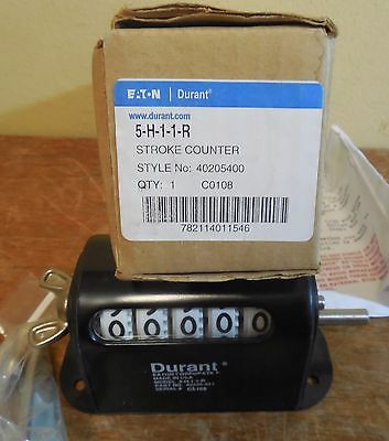 NEW in Box Eaton Durant 5-H-1-1-R Stroke Counter Style 40205400 NEW NEW NEW NEW