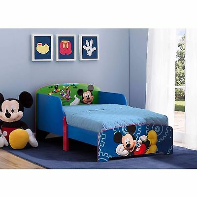 wood toddler bed mickey mouse his best friends kids disney bedroom furniture
