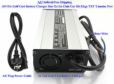 AU 36V/5A Golf Cart Battery Charger Star Ez Go Club Car DS EZgo TXT Yamaha New