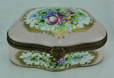 "Limoges hand painted jewelry box 6 ½""x 4 ½"" x 2"".  Marked. (BI#MK/0117.TMP)"