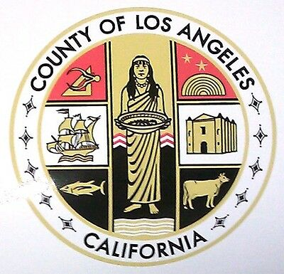"""Los Angeles County Decal Sticker 8"""" Inch"""