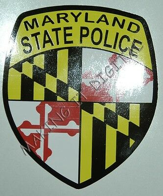"""5"""" Maryland State Police Decal"""