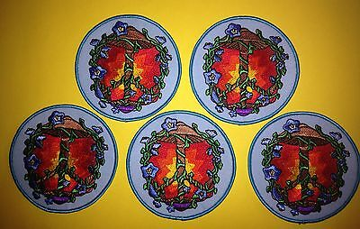 5 Lot Grateful Dead Psychedelic Mushroom Hippie Jacket Backpack Music Patches R