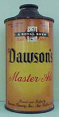 DAWSON'S MASTER ALE IRTP Cone Top Beer CAN New Bedford MASSACHUSETTS POKER CARDS