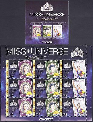Philippines 2017 Miss Universe sheetlet/9 +SS complete set Mint NH