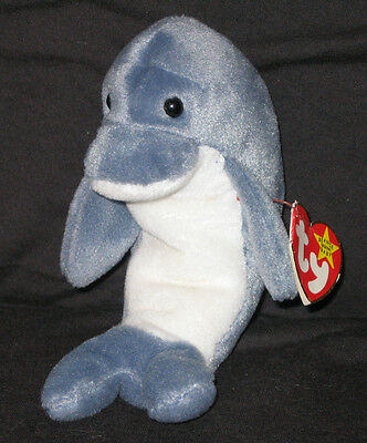 TY ECHO the DOLPHIN BEANIE BABY - MINT with MINT TAGS
