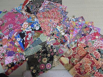 PRE-CUT 50 pieces (9.5 X 9.8) ASIAN JAPANESE ORIENTAL QUILT FABRIC DIY # 6