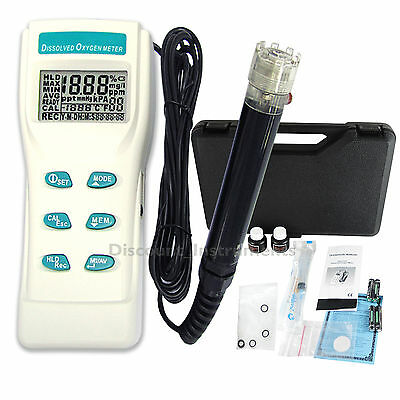 Professional Digital Dissolved Oxygen DO Meter Guage °F °C Analyzer 0-199.9% New