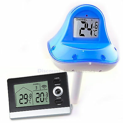 Remote Floating Wireless Swimming Pool Thermometer Water Pond Spa Temperature