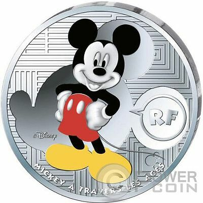 MICKEY MOUSE Maus Through The Ages Disney Silver Coin 10€ Euro France 2016