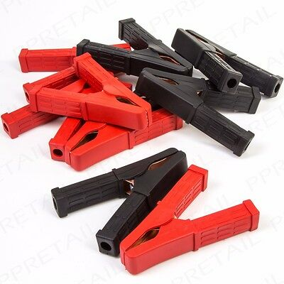 10 x HEAVY DUTY Crocodile Clips 200A/120mm INSULATED Jump/Booster Cable Grips