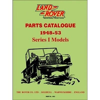 Land Rover Series I Parts Catalogue 1948-1953 book paper