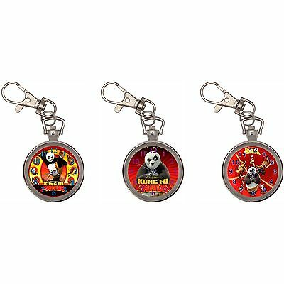 Kung Fu Panda Silver Key Ring Chain Pocket Watch