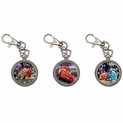 Cars Silver Key Ring Chain Pocket Watch