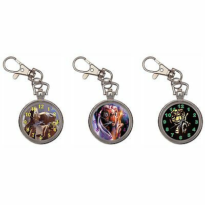 Et Extra Terrestrial Silver Key Ring Chain Pocket Watch
