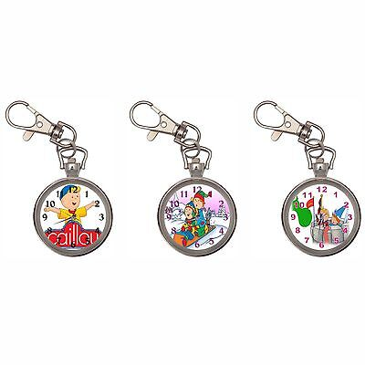 Caillou Silver Key Ring Chain Pocket Watch