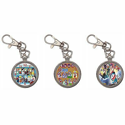 Doraemon Silver Key Ring Chain Pocket Watch