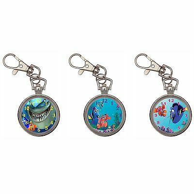Finding Nemo Silver Key Ring Chain Pocket Watch