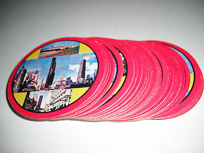 Vintage 1960's Abc Hong Kong Deck Round Playing Cards City Of Chicago Illinois
