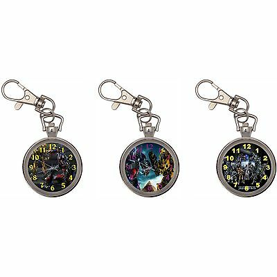 Transformers Optimus Prime Silver Key Ring Chain Pocket Watch