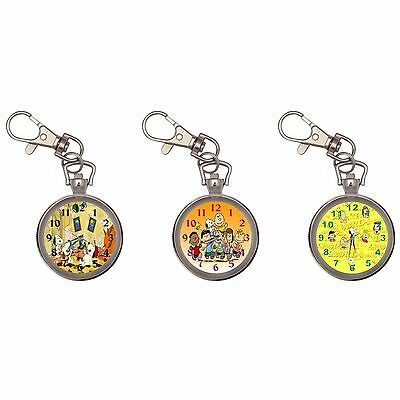 PeanutsSnoopy Silver Key Ring Chain Pocket Watch