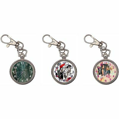 Kelly Clarkson Silver Key Ring Chain Pocket Watch