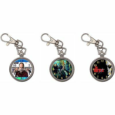 Sopranos Silver Key Ring Chain Pocket Watch