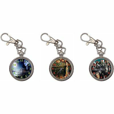 Enrique Iglesias Silver Key Ring Chain Pocket Watch