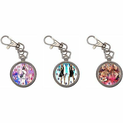 Mariah Carey Silver Key Ring Chain Pocket Watch