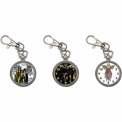 Jon Bon Jovi Silver Key Ring Chain Pocket Watch