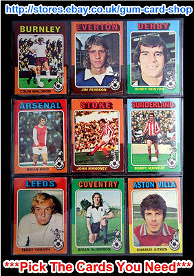 Topps 1975 Red/Grey Footballers (Cards 1 - 86) (G/F) *Pick The Cards You Need*