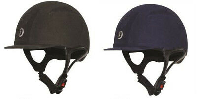 Gatehouse CHALLENGER SUEDE RIDING HAT Vented Black Navy SNELL