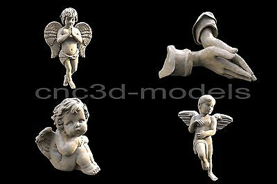 3D STL Models for CNC Router Engraver Carving Artcam Aspire Cherub Angel 085