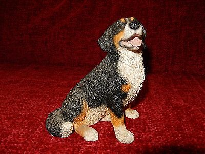 Bernese Mountain dog figure sitting model by Castagna hand made in Italy new