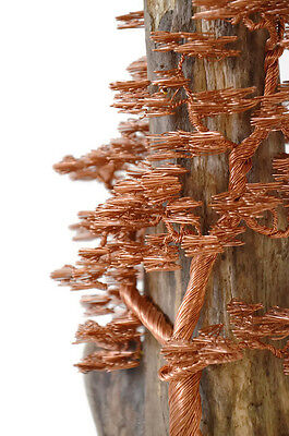 Wire Tree Sculpture Driftwood Art Copper Wire Home Decor Metal Bonsai Decoration