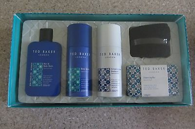 Ted Baker Men's 5 Piece Toiletries Gift Set ~ New