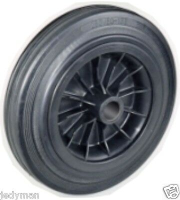 Wheel rubber Full wheel for Trolleys Plate in plastic d.mm.200x50 P. Kg.209