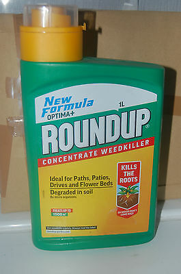 Roundup concentrate weedkiller 1Ltr New Formula optima+