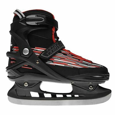 No Fear Mens Gents Storm Ice Skates Touch and Close Strap Shoes Footwear