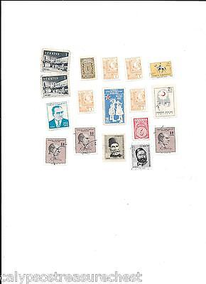 WORLD STAMPS TURKEY POSTAGE STAMPS 1950s, 60s - LOT OF 17 STAMPS - COMBINED POST