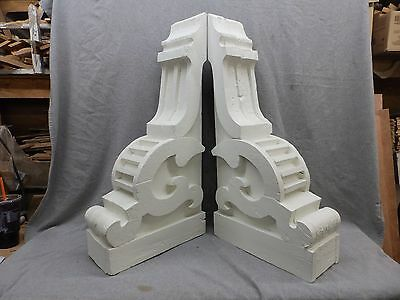 Large Pair Antique Wood Corbels Shabby Cottage Old Vintage Chic 23-17R