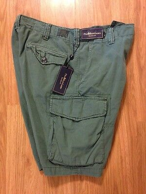 NWT Men's Polo Ralph Lauren Relaxed Fit Cargo Shorts Green Size 30