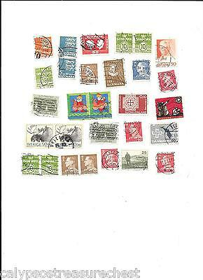 WORLD STAMPS DANMARK DENMARK STAMPS 1960s - LOT OF 57 STAMPS - COMBINED POST