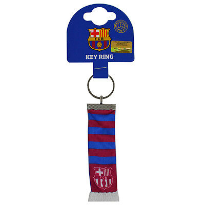 Official Licensed Football Product FC Barcelona Bar Scarf Keyring Key Gift New