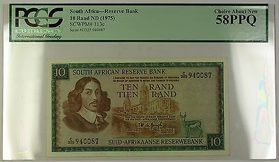 (1975) No Date South Africa 10 Rand Bank Note SCWPM# 113c PCGS Choice 58 PPQ